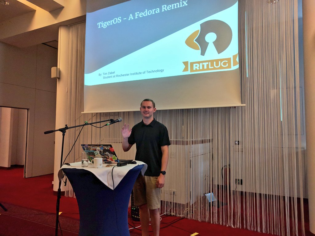 image of President Tim Zabel at Fedora Flock 2018